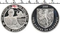 Изображение Монеты Олдерни 5 фунтов 2005 Серебро Proof История королевских