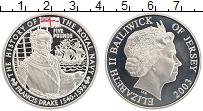 Изображение Монеты Остров Джерси 5 фунтов 2003 Серебро Proof История королевских