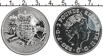 Изображение Монеты Великобритания 2 фунта 2019 Серебро UNC Герб Великобритании