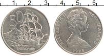 Изображение Монеты Новая Зеландия 50 центов 1975 Медно-никель XF Елизавета II.