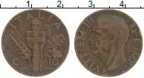 Изображение Монеты Италия 10 чентезимо 1938 Бронза XF Виктор Эммануил III