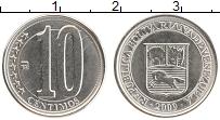 Изображение Монеты Венесуэла 10 сентим 2009 Медно-никель UNC