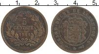 Изображение Монеты Люксембург 5 сантим 1854 Бронза XF