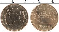 Изображение Монеты Таиланд 2 бата 2016 Латунь UNC Король Рама IX