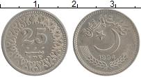 Изображение Монеты Пакистан 25 пайс 1994 Медно-никель UNC