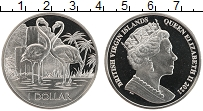 Изображение Мелочь Виргинские острова 1 доллар 2021 Медно-никель UNC Елизавета II.Фламинг