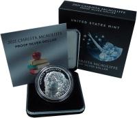 Изображение Подарочные монеты США 1 доллар 2021 Серебро UNC