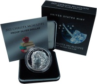 Изображение Подарочные монеты США 1 доллар 2021 Серебро UNC Р юбилейная монета С