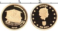 Изображение Монеты Гана 500 сика 2002 Золото Proof Финикийское мореплав