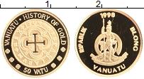 Изображение Монеты Вануату 50 вату 1998 Золото Proof История золотых моне