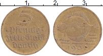 Продать Монеты Данциг 5 пфеннигов 1932 Бронза