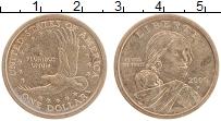 Изображение Монеты США 1 доллар 2000 Латунь VF+ P. Cакагавея. Орел
