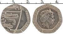 Изображение Монеты Великобритания 20 пенсов 2011 Медно-никель UNC Елизавета II.