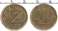 Изображение Монеты Финляндия 20 евроцентов 2001 Латунь XF