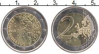 Изображение Монеты Финляндия 2 евро 2015 Биметалл UNC- 150 лет со дня рожде