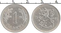 Изображение Монеты Финляндия 1 марка 1940 Медно-никель XF