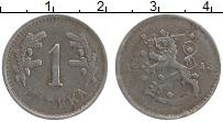 Изображение Монеты Финляндия 1 марка 1945 Железо XF
