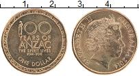 Изображение Монеты Австралия 1 доллар 2014 Латунь UNC Елизавета II. День А
