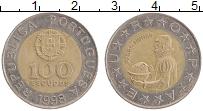 Изображение Монеты Португалия 100 эскудо 1998 Биметалл XF Педро Нуньес