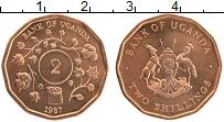 Изображение Монеты Уганда 2 шиллинга 1987 Бронза UNC