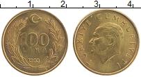 Изображение Монеты Турция 100 лир 1993 Латунь UNC Кемаль Ататюрк