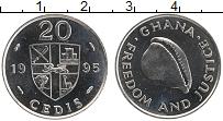 Изображение Монеты Гана 20 седи 1995 Медно-никель UNC