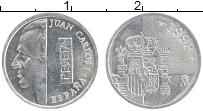 Изображение Монеты Испания 1 песета 1998 Алюминий UNC Хуан Карлос I