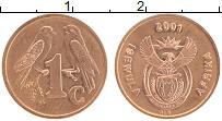 Изображение Монеты ЮАР 1 цент 2001 Бронза UNC