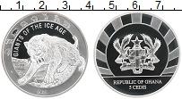 Изображение Монеты Гана 5 седи 2020 Серебро Proof Гиганты ледникового