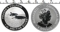 Изображение Монеты Австралия 1 доллар 2021 Серебро Proof Елизавета II. Дельфи