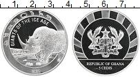 Изображение Монеты Гана 5 седи 2021 Серебро Proof Гиганты ледникового