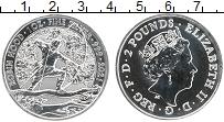 Изображение Монеты Великобритания 2 фунта 2021 Серебро UNC Елизавета II. Робин