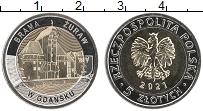 Изображение Мелочь Польша 5 злотых 2021 Биметалл UNC Ворота-кран в Гданьс