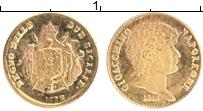 Изображение Монеты Италия Жетон 0 Золото UNC- Сицилия 1 лира 1815