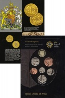 Изображение Подарочные монеты Великобритания Новые гербы 2008  BUNC