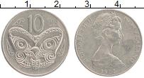 Изображение Монеты Новая Зеландия 10 центов 1982 Медно-никель XF Елизавета II.
