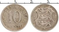 Изображение Монеты Эстония 10 сенти 1931 Медно-никель XF-