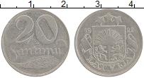 Изображение Монеты Латвия 20 сантим 1922 Медно-никель VF