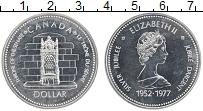 Изображение Монеты Канада 1 доллар 1977 Серебро Proof- 25 лет Правления Кор