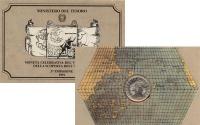Изображение Подарочные монеты Италия 500 лир 1991 Серебро UNC