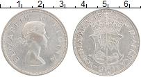 Изображение Монеты ЮАР 2 1/2 шиллинга 1953 Серебро XF Елизавета II.