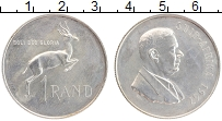 Изображение Монеты ЮАР 1 ранд 1967 Серебро UNC- Хендрик Фервурд Френ