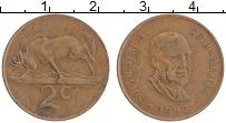 Изображение Монеты ЮАР 2 цента 1982 Бронза XF Балтазар Йоханнес Фо