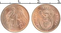 Изображение Монеты ЮАР 1 цент 2001 Бронза XF