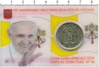 Изображение Подарочные монеты Ватикан 50 евроцентов 2019 Латунь UNC