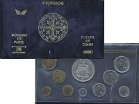 Изображение Подарочные монеты Франция Набор 1980 года 1980  UNC