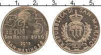 Изображение Монеты Сан-Марино 5 евро 2019 Латунь UNC- Технология мобильной
