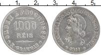 Изображение Монеты Бразилия 1000 рейс 1911 Серебро XF