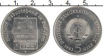 Изображение Монеты ГДР 5 марок 1983 Медно-никель XF Дом Мартина Лютера в