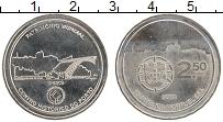 Изображение Монеты Португалия 2 1/2 евро 2008 Медно-никель UNC Исторический центр П